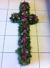 3ft Cross Loose Style in Pink & Purple