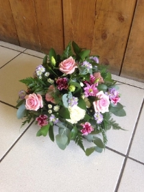 Posy Arrangement in Pinks & Purples